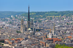 Aerial view on Rouen Royalty Free Stock Photography