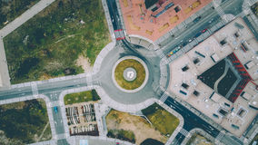 Aerial view of roundabout Stock Photos