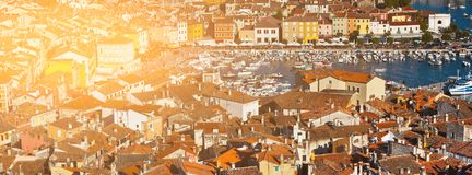 Aerial View from Rovinj Belfry, Croatia royalty free stock photography