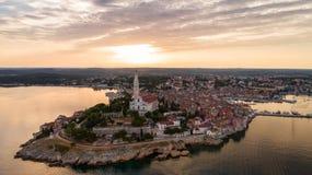 Aerial view of a Rovinj, Croatia Royalty Free Stock Photos