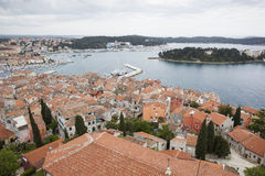 Aerial view of Rovinj Stock Images