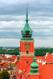 Aerial view of Royal Castle in Warsaw, Poland. Stock Images