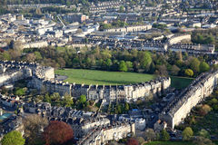Aerial View of The Royal Crescent, Bath Royalty Free Stock Photos