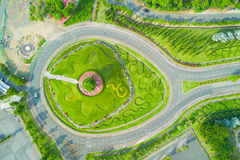 Aerial view of Royal Park Rajapruek roundabout with beautiful gr Royalty Free Stock Photography