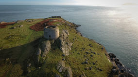 Aerial view. Ruins. Dalkey island.Dublin. Ireland Royalty Free Stock Image