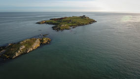 Aerial view. Ruins. Dalkey island.Dublin. Ireland Stock Images