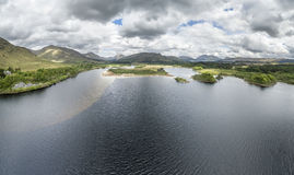 Aerial view of the ruins of historic Kilchurn Castle and Loch Awe Stock Photography