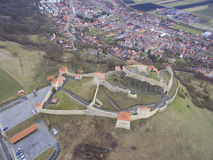 Aerial view of Rupea fortress Royalty Free Stock Photos