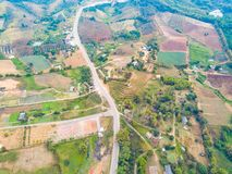 Aerial view of rural area in Khao Kho district Royalty Free Stock Photography