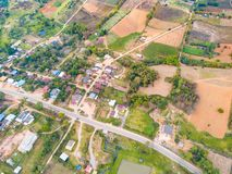 Aerial view of rural area in Khao Kho district Royalty Free Stock Photo