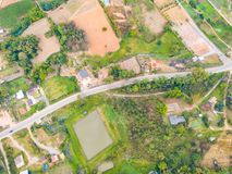 Aerial view of rural area in Khao Kho district Royalty Free Stock Image