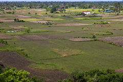 Aerial view of rural area Royalty Free Stock Photography