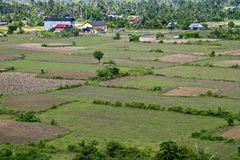 Aerial view of rural area Royalty Free Stock Photos