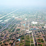 Aerial view of rural China Stock Photos