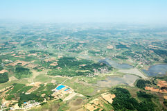 Aerial view of rural China Royalty Free Stock Photo