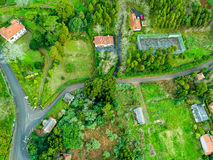 Aerial View on Rural Countryside Royalty Free Stock Images