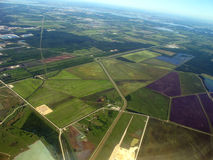 Aerial view of rural Houston Royalty Free Stock Photo