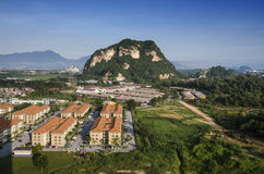 Aerial view of rural Ipoh town ship Stock Image