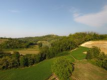 Aerial view of a rural italian landscape Stock Image
