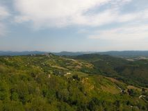 Aerial view of a rural italian landscape Royalty Free Stock Photo