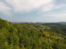 Aerial view of a rural italian landscape Stock Photos