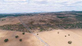 Aerial view rural landscape stock footage