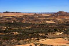 Rural landscape in Caspe, Spain Stock Photography
