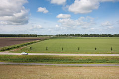 Aerial view of rural landscape in the Netherlands Royalty Free Stock Photography