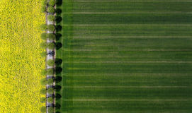 Aerial view of a rural landscape Royalty Free Stock Images