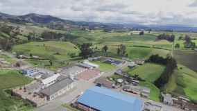 Aerial view of rural landscape stock video