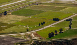 Aerial view of a rural landscape Stock Image