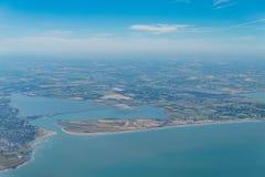 Aerial view of rural scene near Dublin Airport