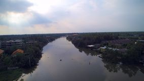Aerial view in rural of Thailand stock video footage