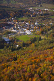 Aerial view of rural Vermont town. Stock Image