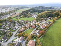 Aerial view of rural village Royalty Free Stock Photos