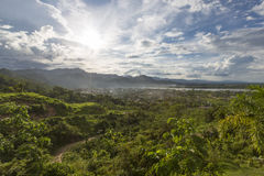 Aerial view of Rurrenabaque, Bolivia Royalty Free Stock Photo