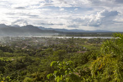 Aerial view of Rurrenabaque, Bolivia Royalty Free Stock Images