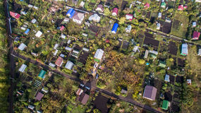 Aerial view of the Russian countryside in autumn Stock Image