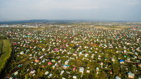 Aerial view of the Russian countryside in autumn Royalty Free Stock Photo