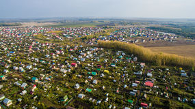 Aerial view of the Russian countryside in autumn Royalty Free Stock Image