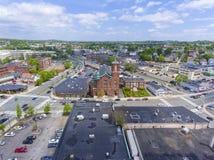 Sacred Heart Rectory Church, Malden, MA, USA. Aerial view Sacred Heart Rectory Church in downtown Malden, Massachusetts, USA stock photography