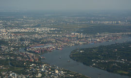 Aerial view of Saigon, Vietnam Royalty Free Stock Image