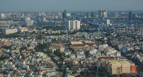 Aerial view of Saigon, Vietnam Royalty Free Stock Images