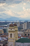 Aerial view of Saint Anne church and Cagliari cityscape, Sardinia Royalty Free Stock Image