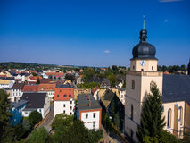 Aerial view of saint annen church goessnitz thuringia germany Stock Image