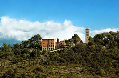Aerial view at Saint Benedict Monastery, Spain Royalty Free Stock Image