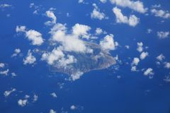 Aerial View of Saint Lucia in the Caribbean Sea royalty free stock photography