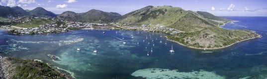 Aerial view of Saint Martin Beach Royalty Free Stock Photos