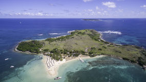 Aerial view of Saint Martin Beach Royalty Free Stock Photography