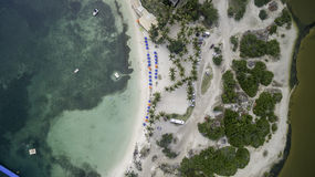 Aerial view of Saint Martin Beach Stock Image